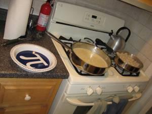 Pie in preparation