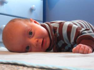 Thane on tummy time