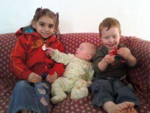 Tamisha, Thane, Grey and Spiderman at daycare