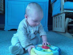 Camera phone makes cute baby blue