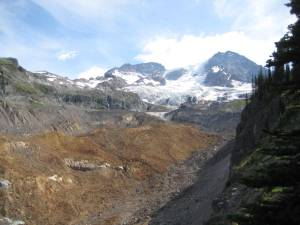 The ferrous glacier-foot of Emerald Ridge