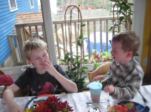 Practicing table manners and social skills at Thanksgiving