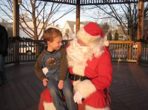 Grey did not scream at Santa