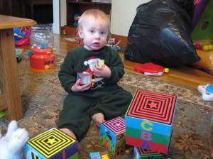 I'm not too sick to play with blocks!