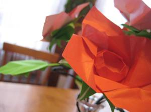 Yes, those are origami roses