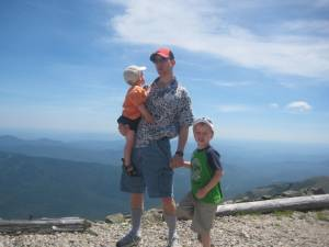 Adam & the boys at the top of New England