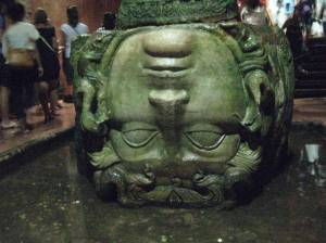 Ancient Medusa in the Basilica Cistern
