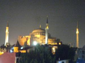 Hagia Sophia on a sultry Istanbul night