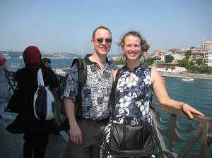 The same kind lady took this picture of us at Maiden's Tower