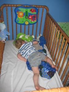 Too big for his crib