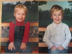 Thane's school pictures - last year and this year