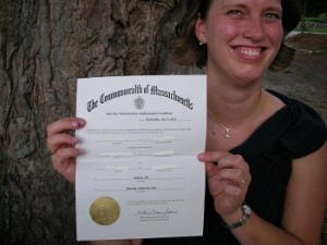 A one day marriage designation given by the Commonwealth of Massachusetts