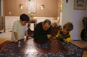 Alex, Adam and Thane consider the puzzle