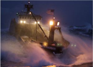 Time Bandit in heavy seas