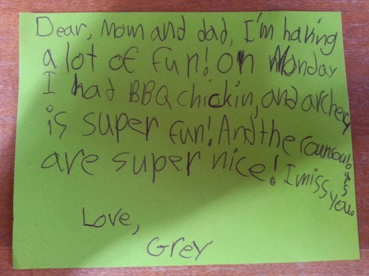 Grey's letter
