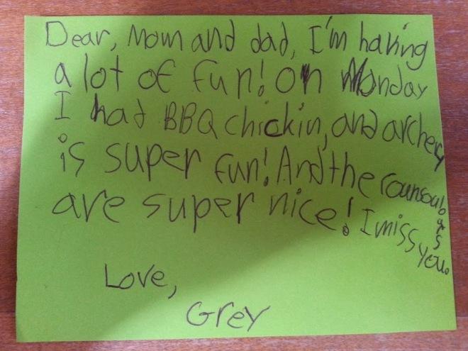 Grey's letter