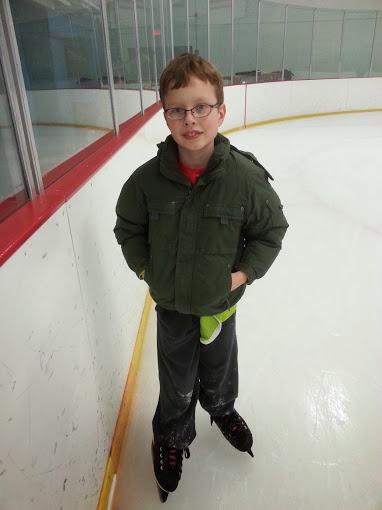 Grey skating