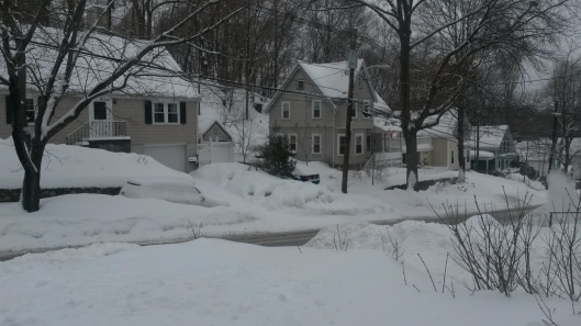 The current scene - we have another 12 - 18 inches coming