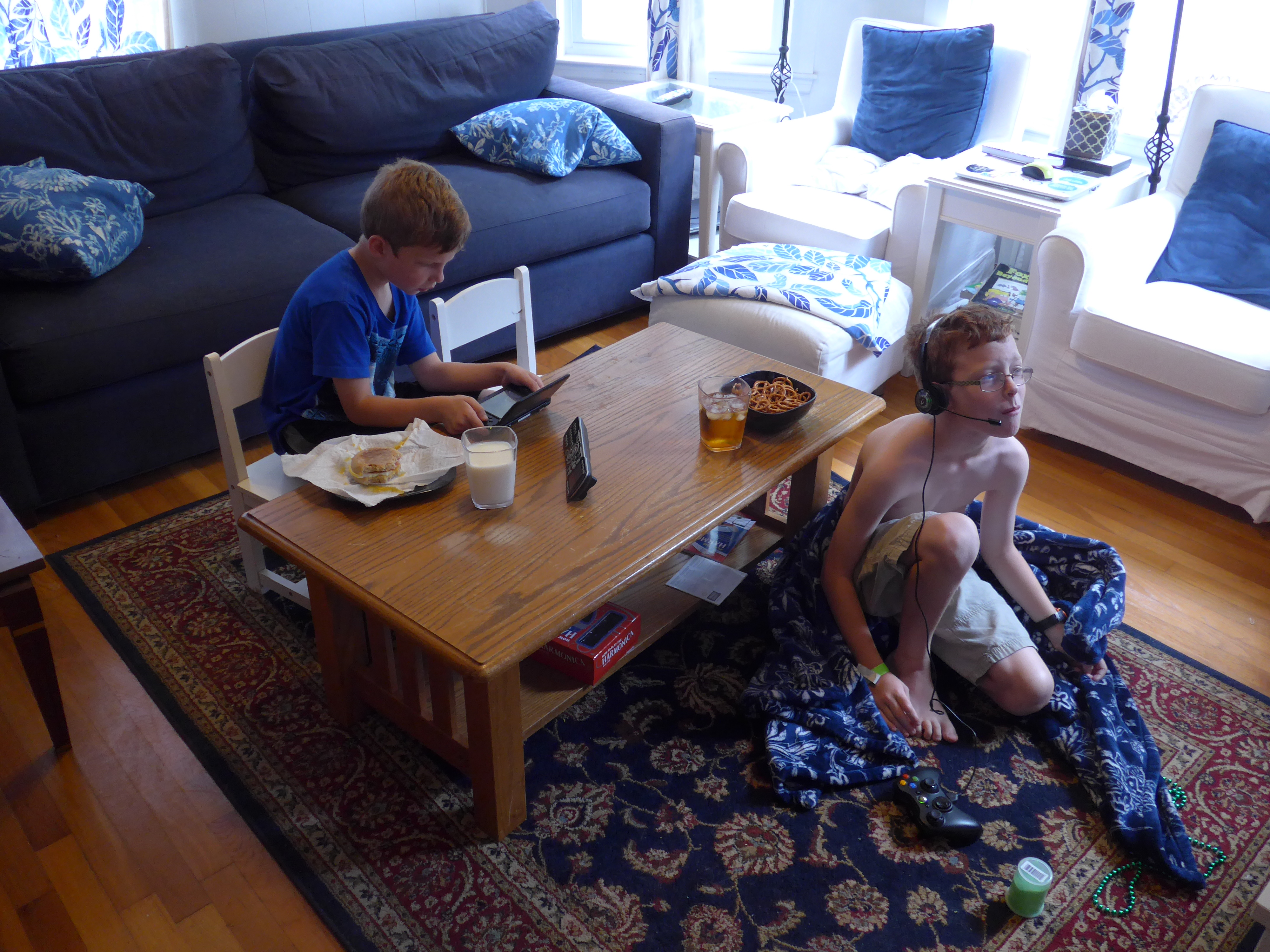 2015 08 decorating with plum and damson - How The Kids Have Been Spending The Time We Re Constructing