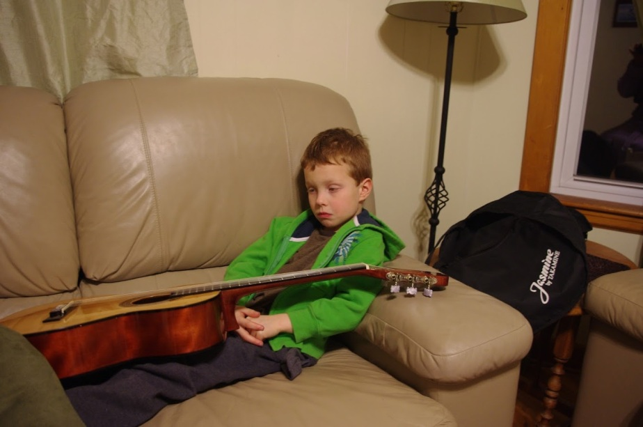 In first grade, arguments about practicing guitar were frequent and unpleasant.