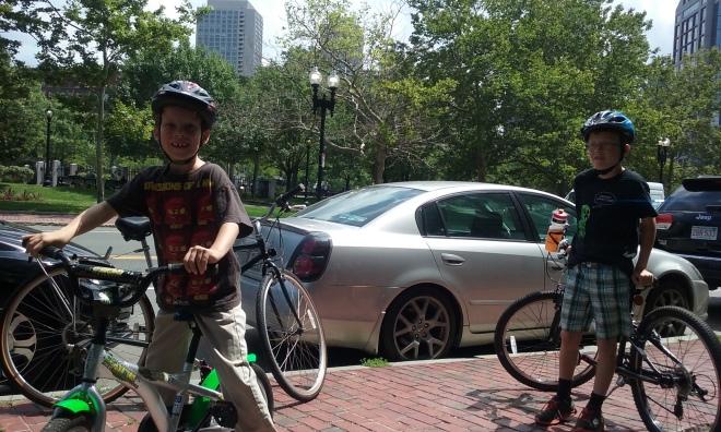 9 mile bike ride in Boston