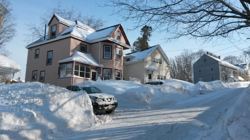 Our home in the snows of last year