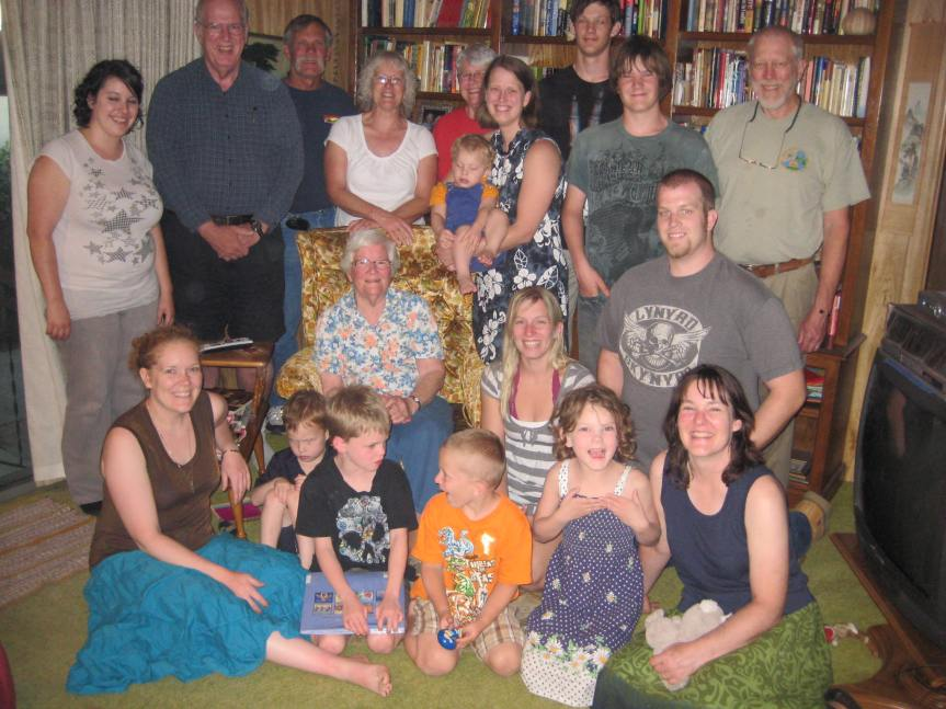 We gathered together for her 90th birthday
