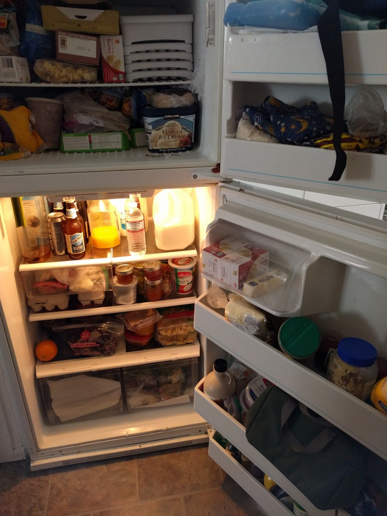 I even just cleaned out this fridge!