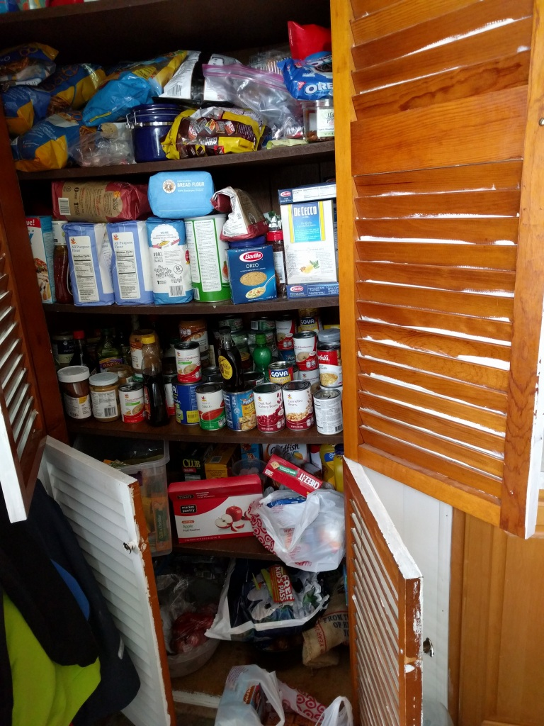 My pantry overfloweth. Not pictured: several other cupboards.
