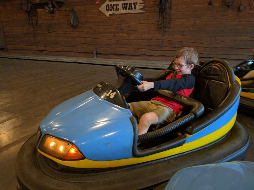 Bumper cars were first to open