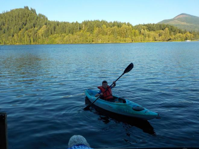 Good think I sent this kid to three weeks of camp that included kayaking!