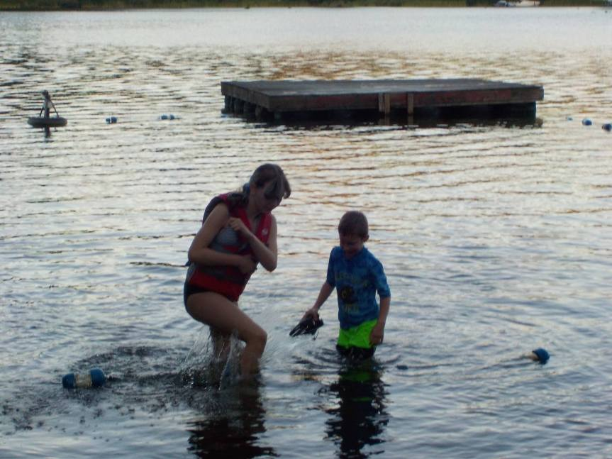 Hot enough to swim in Mineral Lake!