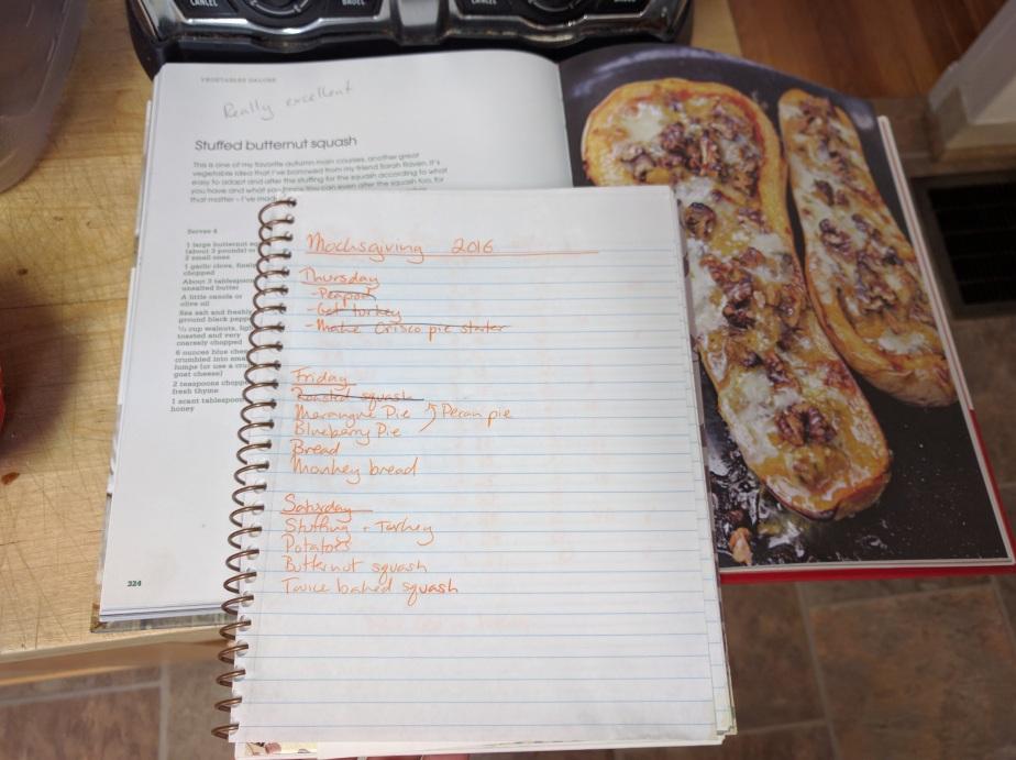 Recipe & project plan