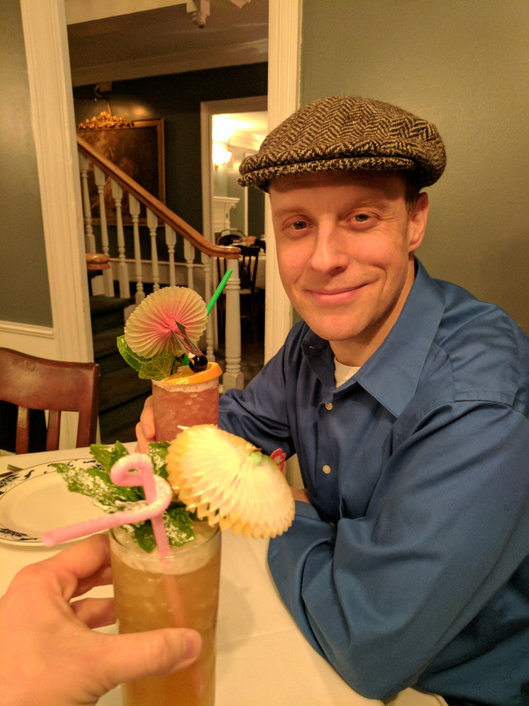 Fruity drinks with umbrellas at the Baldwin