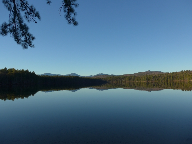 Chocorua is the peak to the right in this picture of White Lake