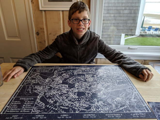 A boy and a very difficult puzzle