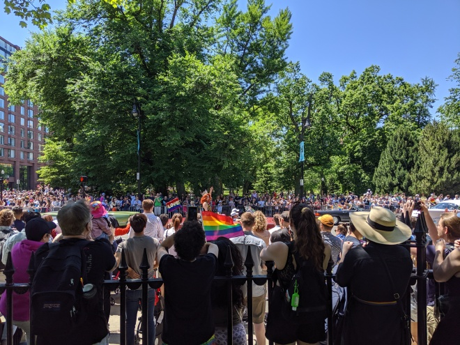 A picture of Boston Pride parade